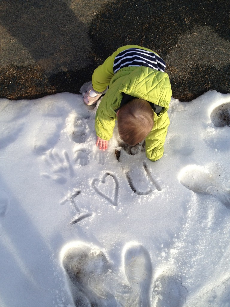 Baby snowtime
