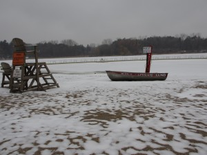 Wirth Beach in winter
