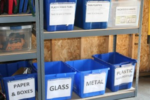 Recycling center organization
