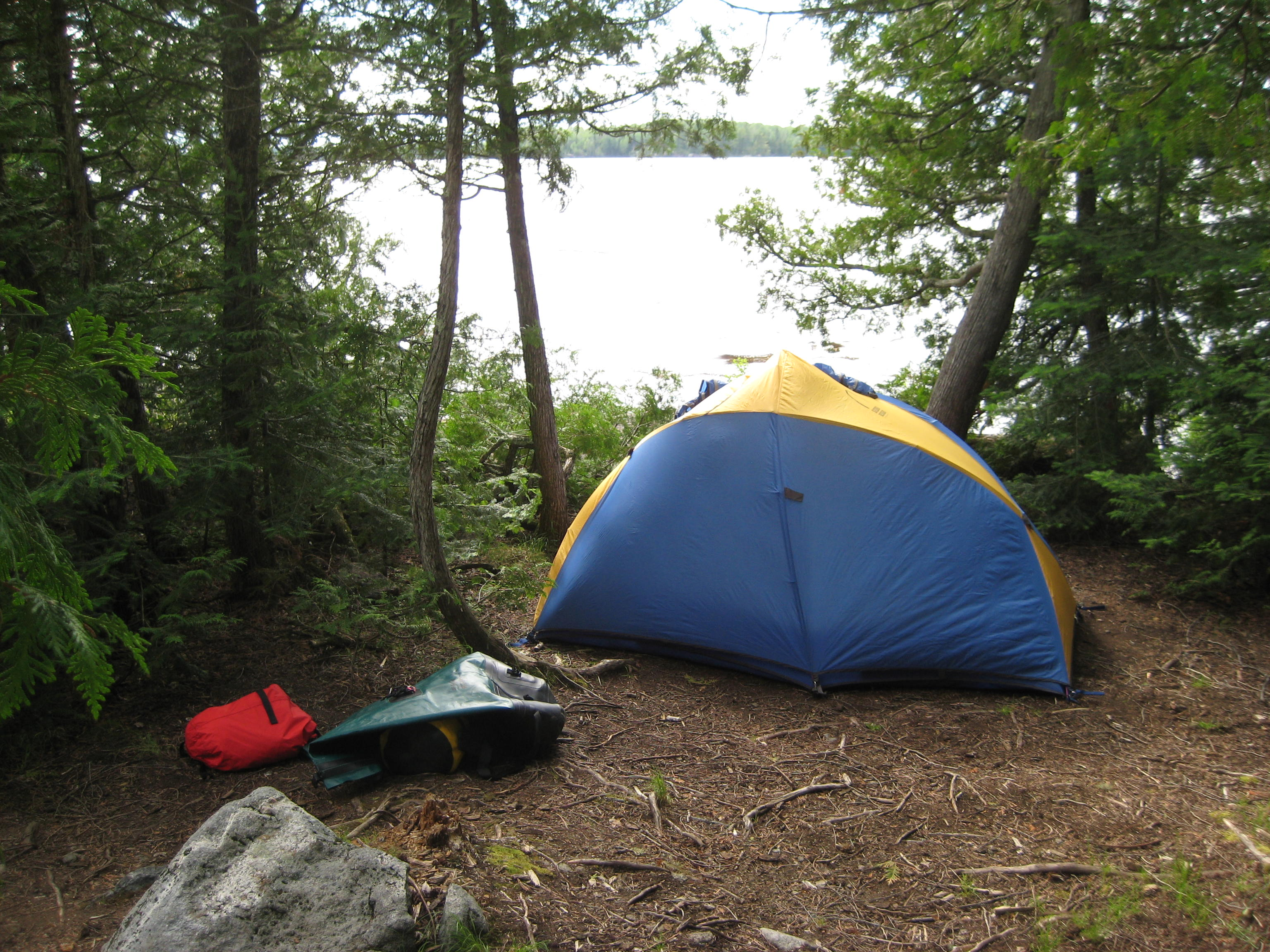 Tent Camp Right : Tent in bwca borealis