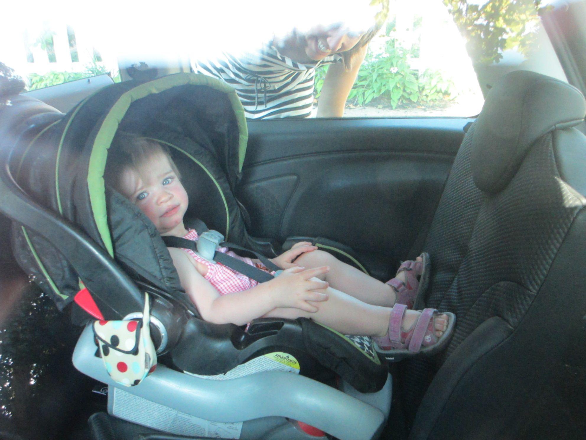 Baby In A Mini Cooper 8