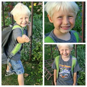 Noah first Day collage