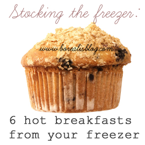Stocking the freezer: Make-ahead breakfast recipes
