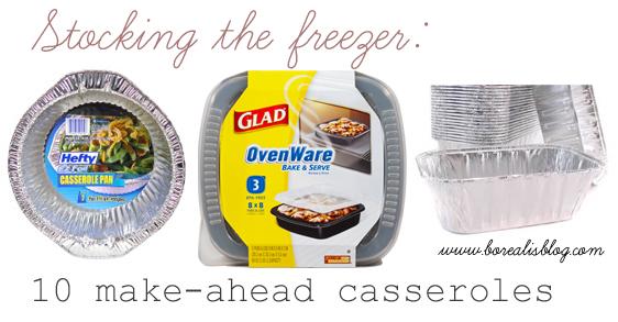 ten casseroles
