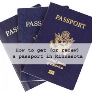 How to get (or renew) a passport in Minnesota