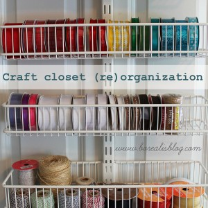 Office and Craft Closet (Re) Organization