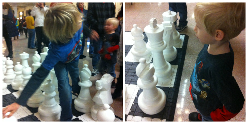 boys chess collage