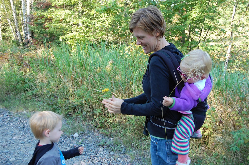 flower hike with toddlers