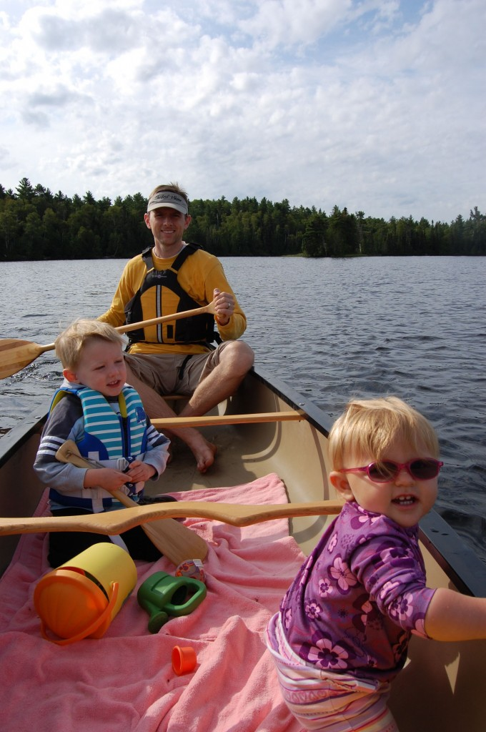 canoeing with toddlers