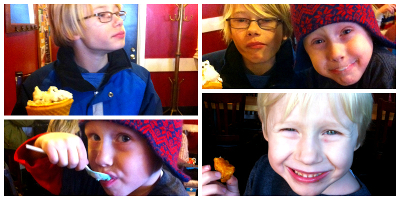 eating adventure collage