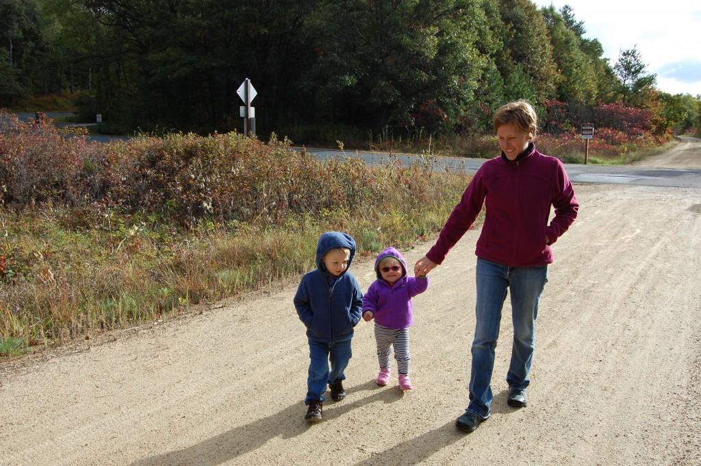 fall cabin walk