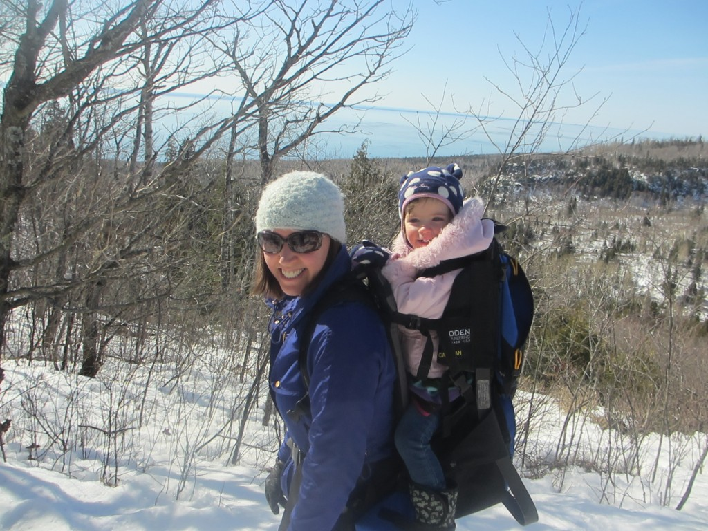 Oberg Mountain with toddler