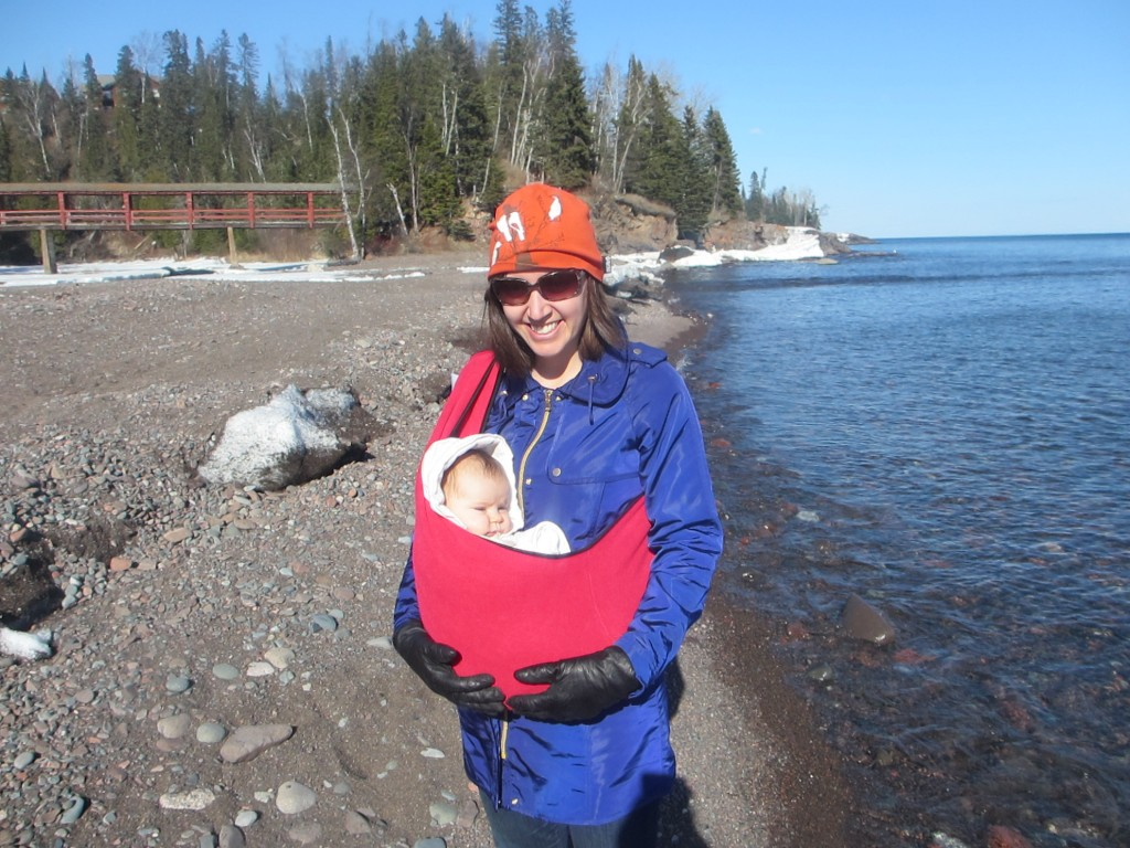 Baby by Lake Superior