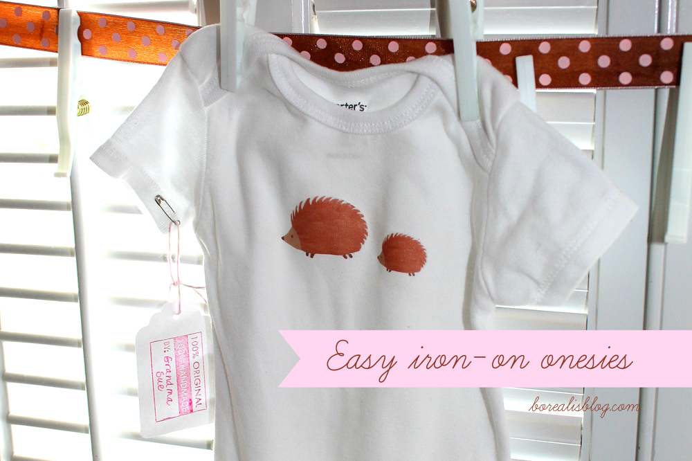 How to make baby onesies with iron on designs borealis hedgehog banner copy solutioingenieria Gallery