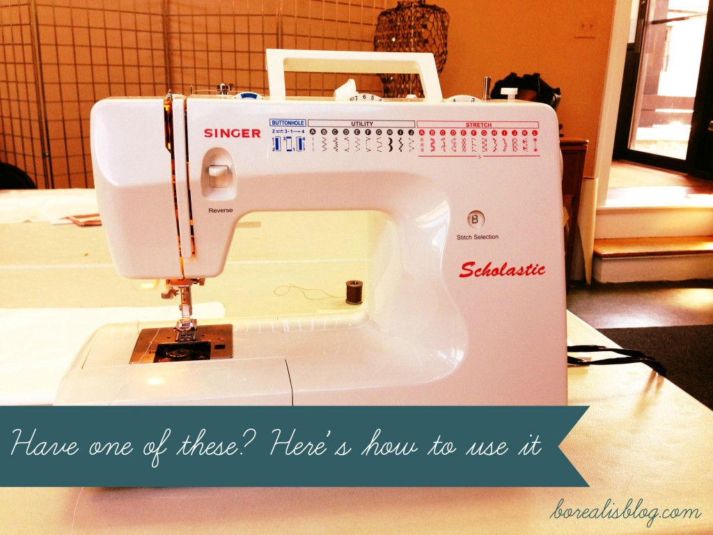 sewing machine at a sewing machine class