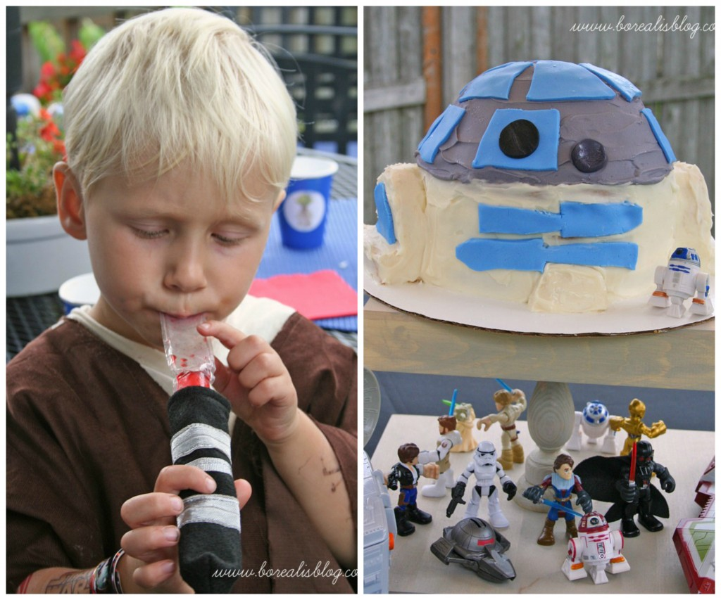 star wars cake collage