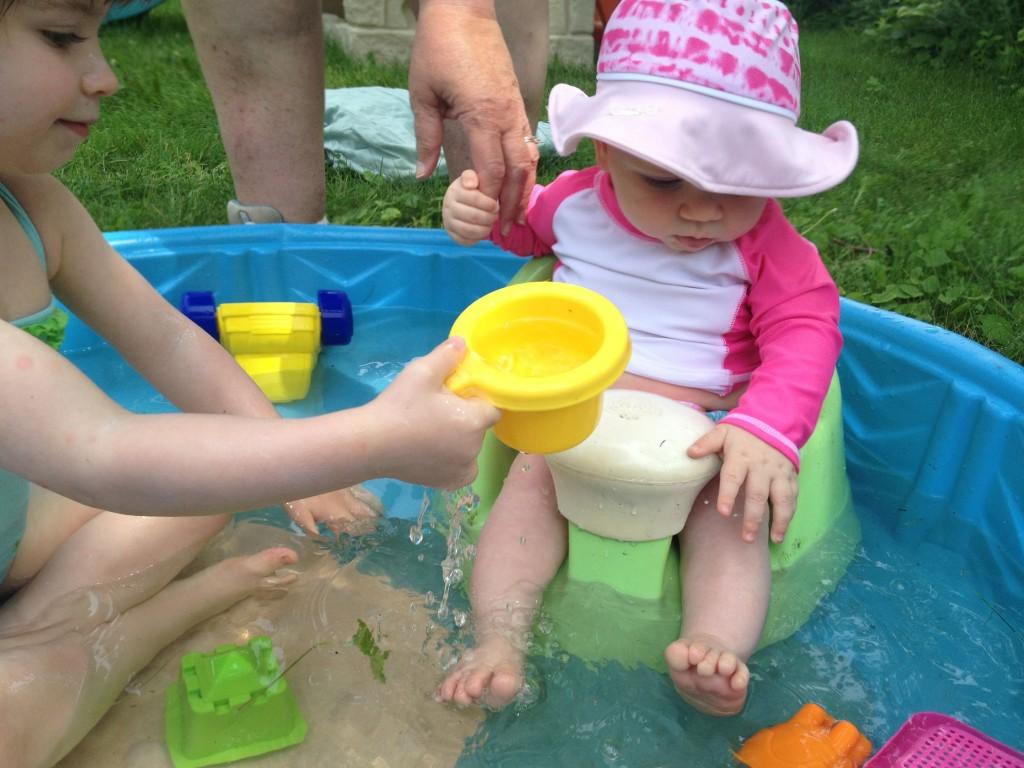 Baby in kiddie pool