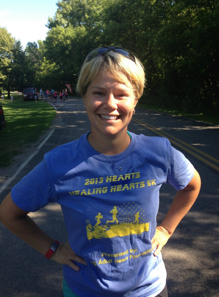 Jen and Hearts 5K