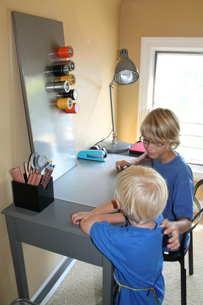 boys at the desk