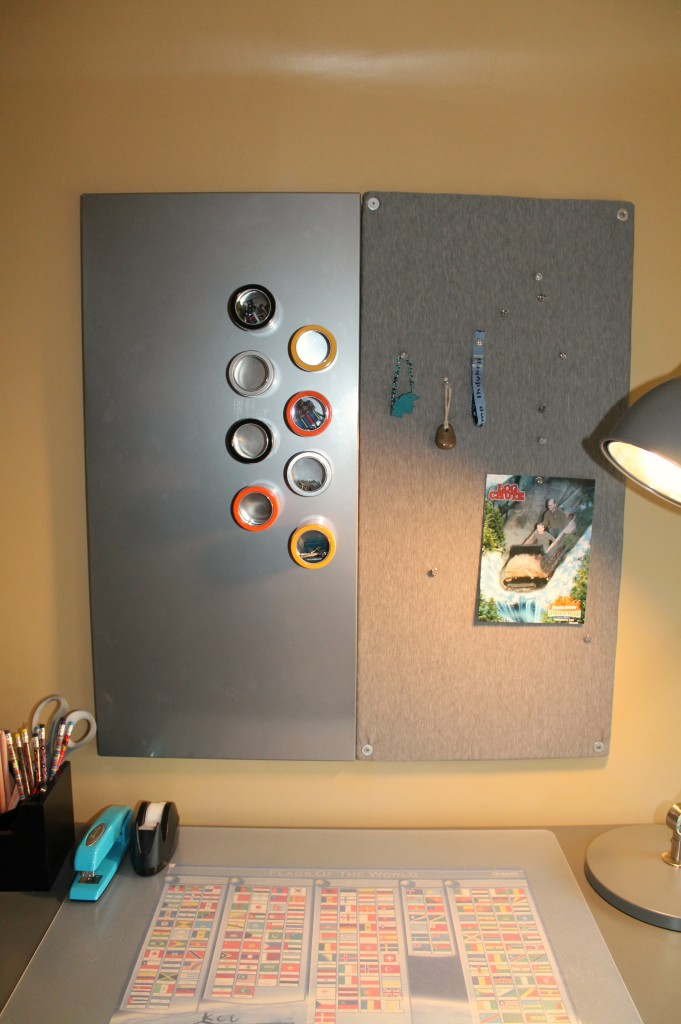 magnet and pin board