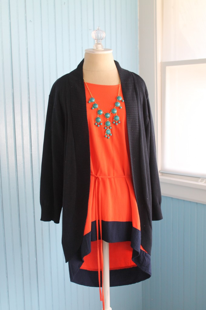 red blouse turquoise jewelry
