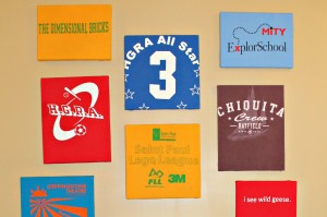 How to make a t-shirt art gallery wall