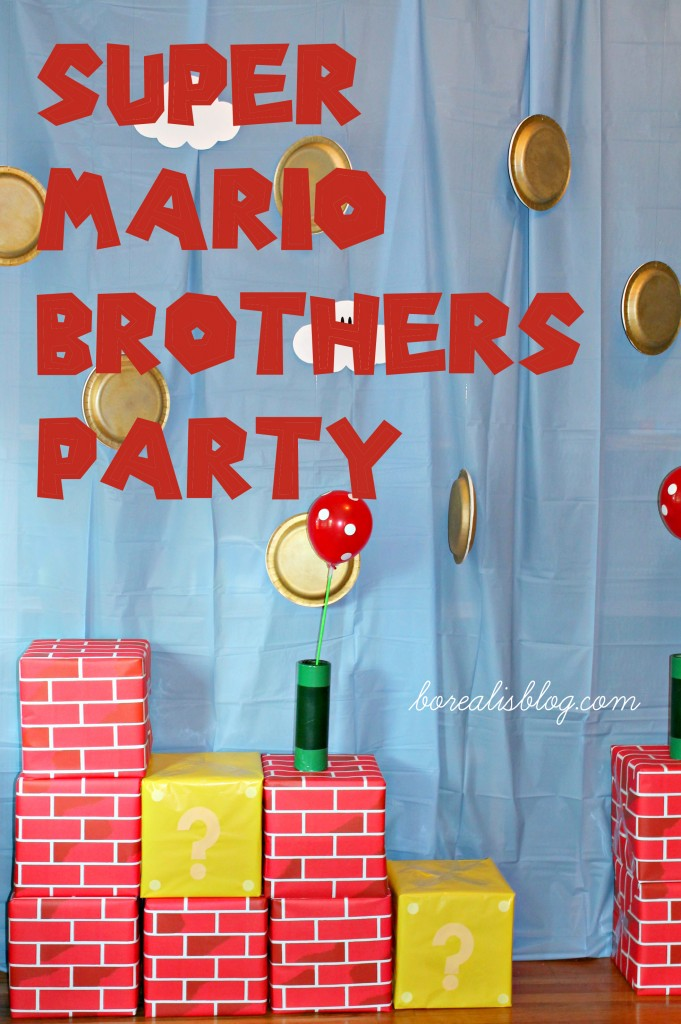 Super Mario Brothers Backdrop words copy