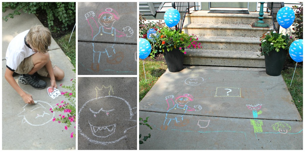 Super Mario Brothers Party Front Entrance Decoration