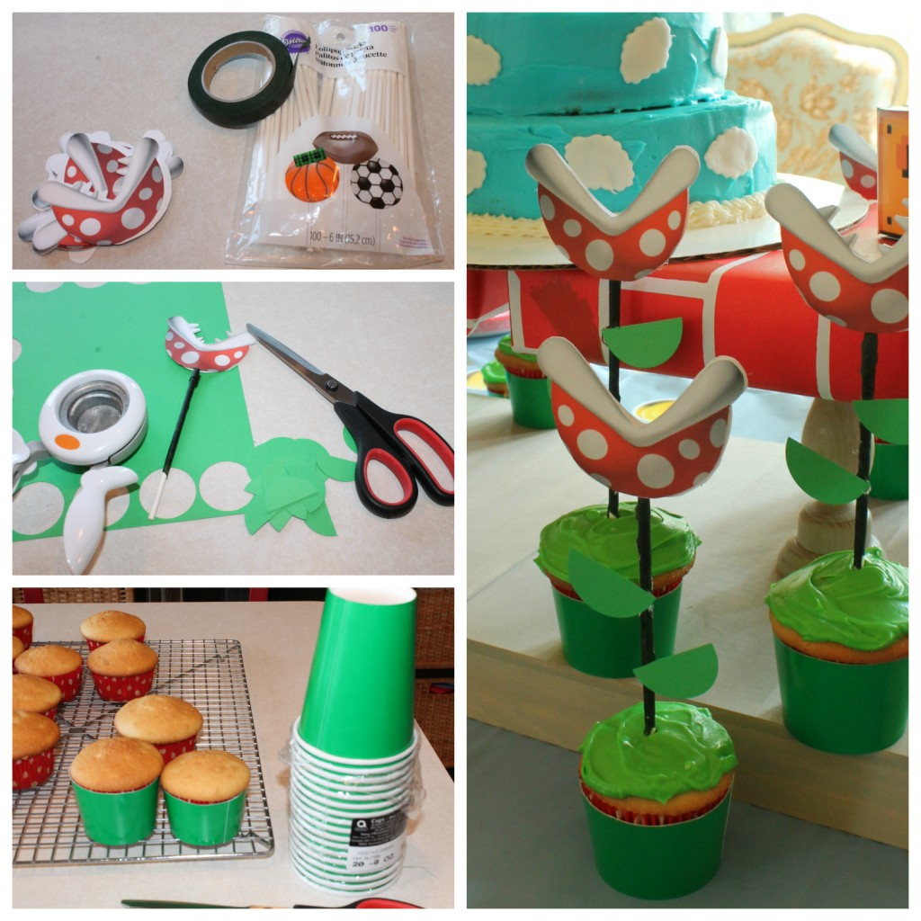 piranha plant cupcake tutorial