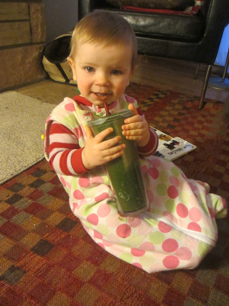 Yes even the baby likes green smoothies
