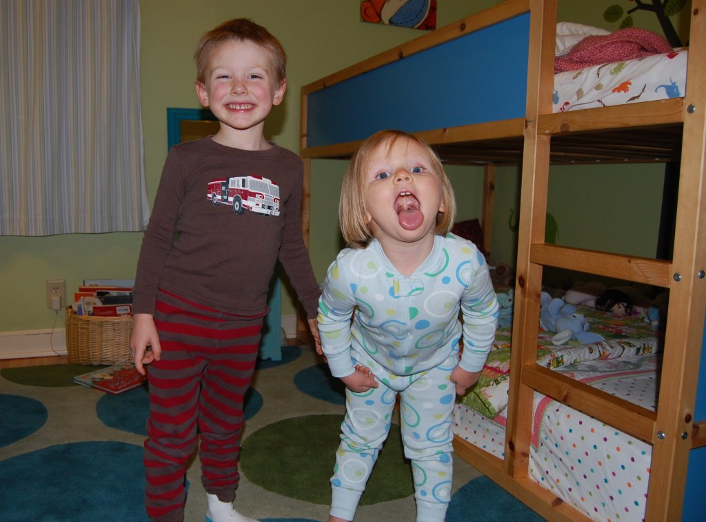 two kids sharing a bedroom
