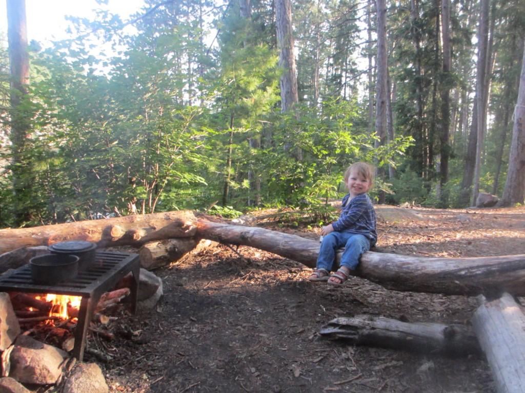 Blythe at campfire