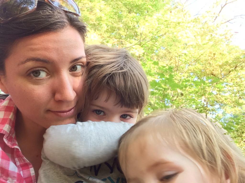 three in wildflower garden