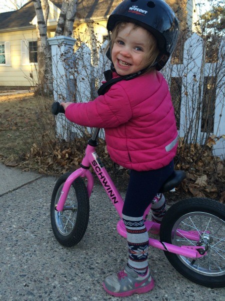 bike riding two year old