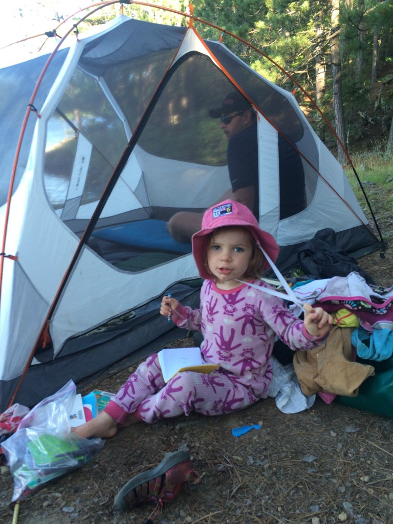 BWCA camping with two year old