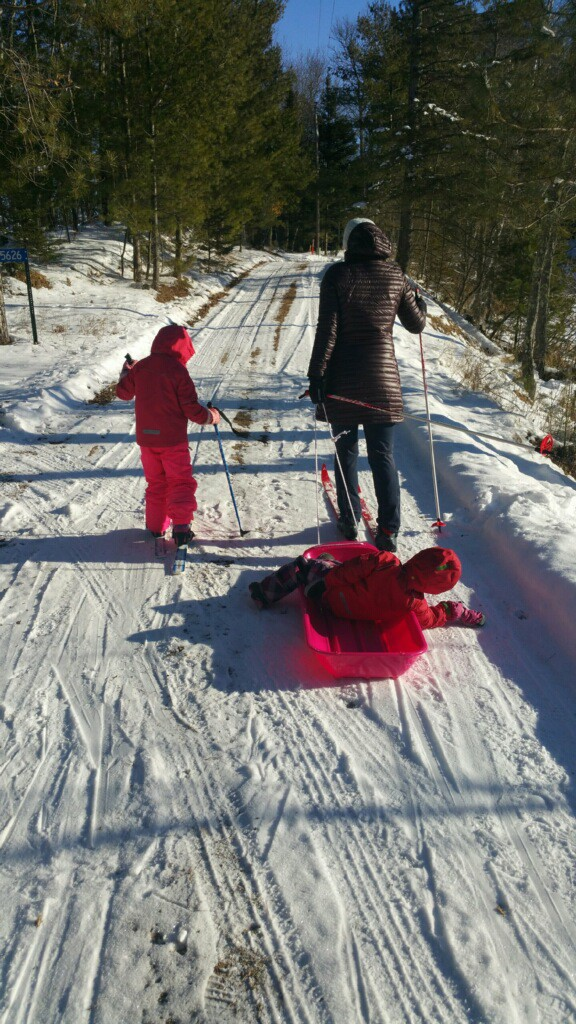 cross country skiing with young children - fresh air helps you survive winter