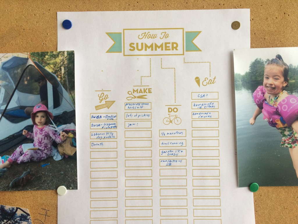 "Survive winter by filling out a ""How to summer"" printable"